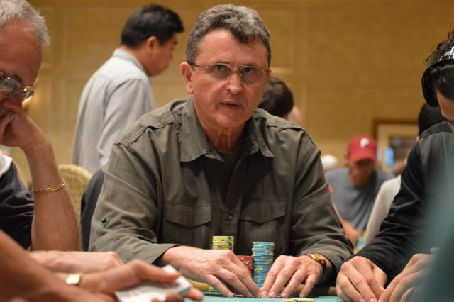 Abraham Korotki has hit some timely river cards at this BPPS final table, with the most recent giving him a much needed double up.